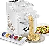 S SMAUTOP Máquina para Hacer Pasta eléctrica, máquina para Hacer Pasta y Fideos Ramen con 9 ajustes de Grosor y 3 moldes...