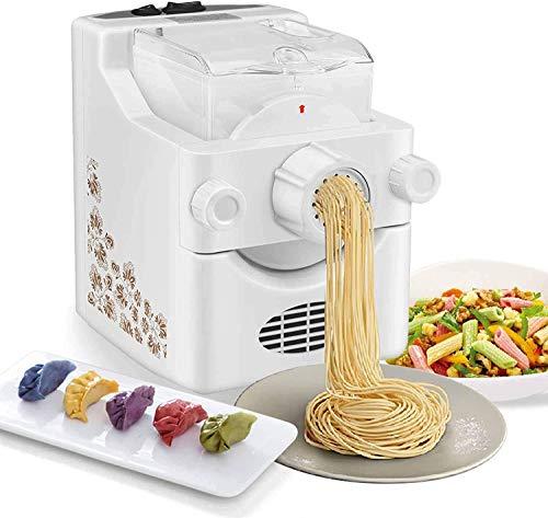 S SMAUTOP Máquina para Hacer Pasta eléctrica, máquina para Hacer Pasta y Fideos Ramen con 9 ajustes de Grosor y 3 moldes para Bolas de Masa, para Hacer Espaguetis fetuccine Penne