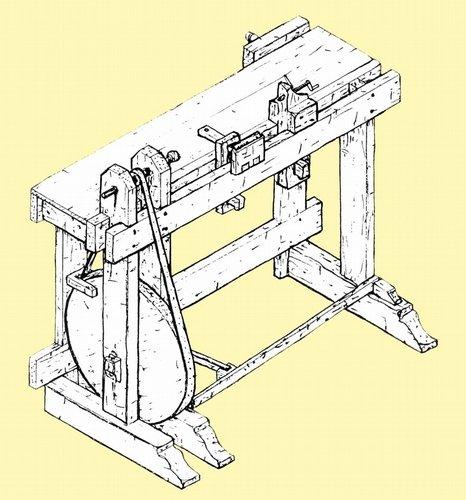 Best Bargain 1805 Turning Bench, Treadle Lathe
