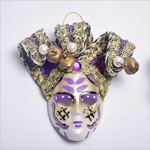 SONGSH Halloween High-End dekorative Maske niedlichen Clown Vollmaske 10 × 10cm Urlaub liefert (Color : 1)