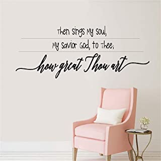 Wall Stickers Art DIY Removable Mural Room Decor Mural Vinyl Then Sings My Soul My Savior God to Thee How Great Thou Art for Living Room Bedroom Home Decor
