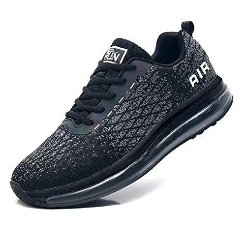 Axcone Sneaker Herren Damen Sportschuhe Air Cushion Turnschuhe Schuhe Laufschuhe Luftkissen Fitness Gym Leichtes 8998-BK47