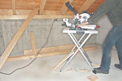 Metabo Maschinenständer UMS / 83 cm hoch, einklappbar & verstellbares 4. Bein für eine optimale Arbeitshöhe / Auflagefläche von 57×60 cm - 4