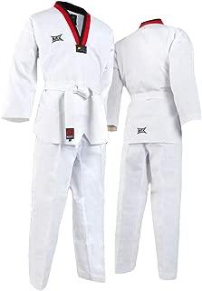 Mooto Korea Taekwondo MTX Poom Neck Uniform WTF Logo White Color MMA Martial Arts Karate Hapkido Match Training Uniforms 100~120 Sizes