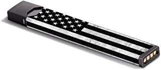 Skin Decal Vinyl Wrap for JUUL Vape Stickers Skins Cover/Black White Grunge Flag USA America