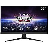 MSI Optix MAG274R Monitor Gaming 27 Pulgadas, Pantalla 16:9 Full HD (1920 x 1080), frecuencia 144 Hz, Tiempo de Respuesta 1 ms, Panel IPS, Mystic Light RGB, Versión Alemán