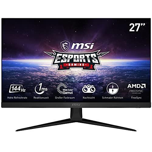MSI Optix MAG274R eSports Gaming-Monitor 27 Zoll (68,5 cm), FHD (1920x1080), 144Hz, 1 ms, Flach, IPS, FreeSync, RGB, DE Version