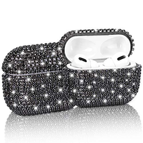 Gdrtwwh Diamond Airpods Pro - Funda protectora para Airpods Pro, color negro
