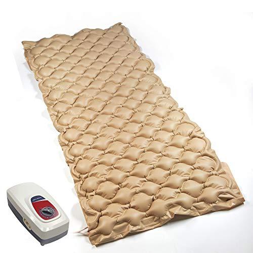 Colchón individual ortopédico antiescaras y ajustable con burbujas de aire, con compresor y sistema de inflado a presión, alivia la espalda y las plagas de débito – 200 x 85 x 8 cm