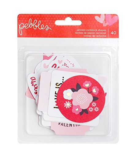 American Crafts Pebbles My Funny Valentine Ephemera 40 Piece