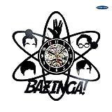 xcvbxcvb Reloj de Vinilo Bazinga fanáticos de Big Bang Theory