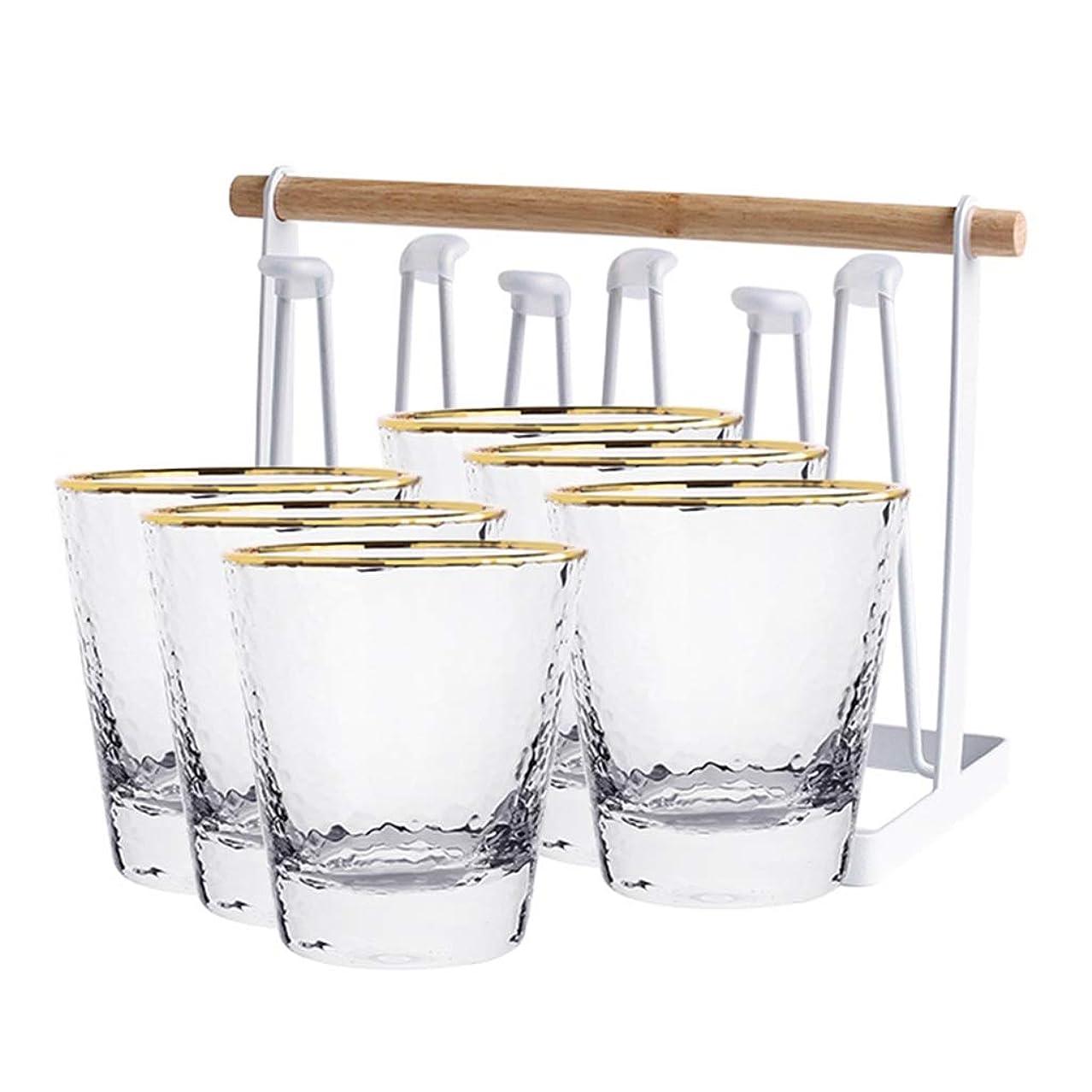 死の顎平和的有効なハンマーテクスチャカップ、シンプルなお湯カップホームリビングルームカップホスピタリティルーム会議室カップ容量300ミリリットル (色 : クリア)