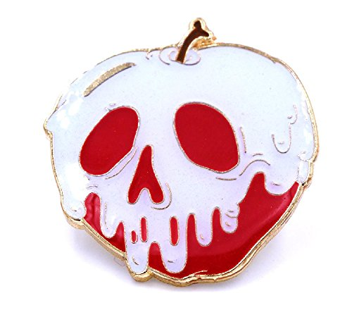 Poison Apple G.I.D. (Glow in The Dark) Lapel Pin by Yesterdays Co. 1.25