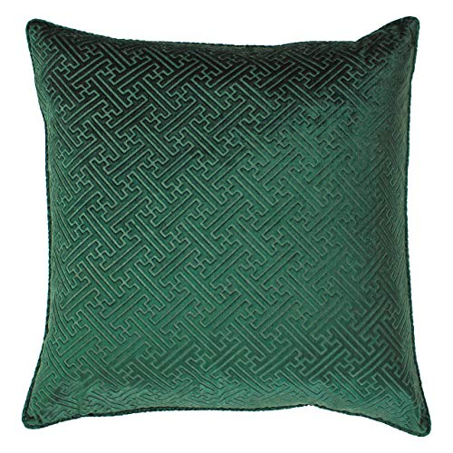 Paoletti Florence Feather Filled Cushion, Emerald, 55 x 55cm
