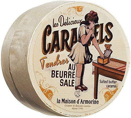 La Maison d'Armorine Caramelle al Burro Salato in Cofanetto di Legno - 1 x 50 Grammi