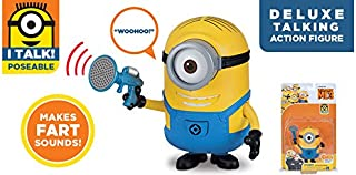 Despicable Me 3: Deluxe Talking Minion Action Figure - Stuart with Fart Blaster