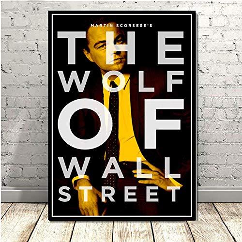 JMHomeDecor Der Wolf Der Wall Street Leonardo Dicapri Tv-Serie Gemälde Kunst Poster Und Drucke Wandbilder Wohnkultur 40X50Cm El-1605