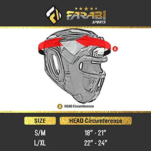 Farabi Head Guard for Boxing MMA Muay Thai Fight Cage Training Helmet (Medium)