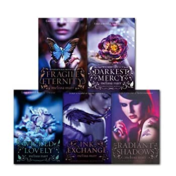 Melissa Marr Collection 5 Books Set  Fragile Eternity Radiant Shadows Ink Exchange Darkest Mercy and Wicked Lovely