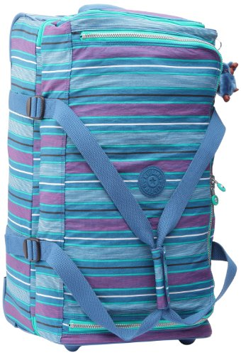 Kipling Bolsa de Viaje, Teagan M, 67 cm, Azul - Line Print, K10990618