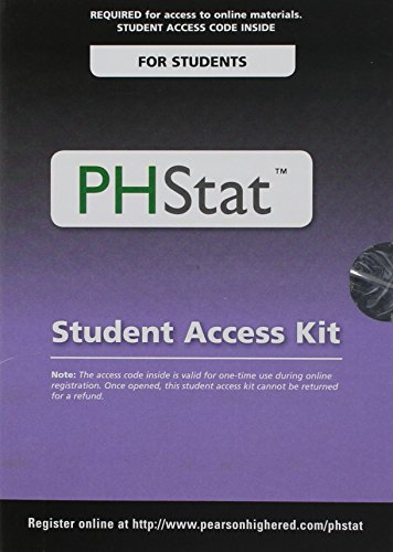 PHStat for Pearson 5x7 Valuepack Access Code Card