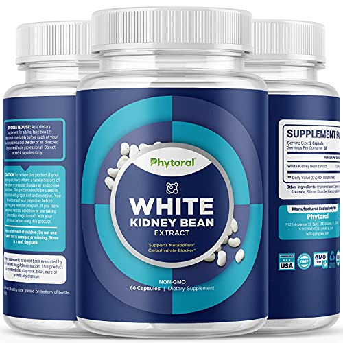 pure leptin supplements White Kidney Bean Energy Supplements - Pure White Kidney Bean Extract Pill with Amylase Enzyme and Natural Energy Pills for Fatigue - Potent and Natural Vegetarian Supplements for Women and Men
