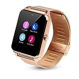 Veera Z60 Smart Watch Steel Strap Men Women Bluetooth Wrist Smartwatch Support SIM/TF Card for Apple Android Phone (1 Year Warranty)