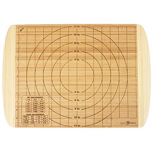 Totally Bamboo Reversible Baker's Board and Carving Butcher Block with Juice Grooves