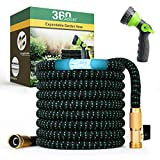 360Gadget Expandable and Flexible Garden Hose 50 ft Water Hose with 3/4' Brass Fittings and 8 Function Sprayer Nozzle,...