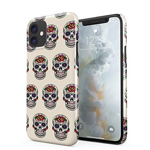 Candy Mexican Floral Red Rose Skulls Pattern Tumblr Hard Thin Plastic Phone Case Cover For iPhone 11