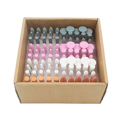 100pcs 1/8 Shank Abrasive Stone Grinding Rotary Tool Bits, Polishing Accessories Attachment Set by Dr. House