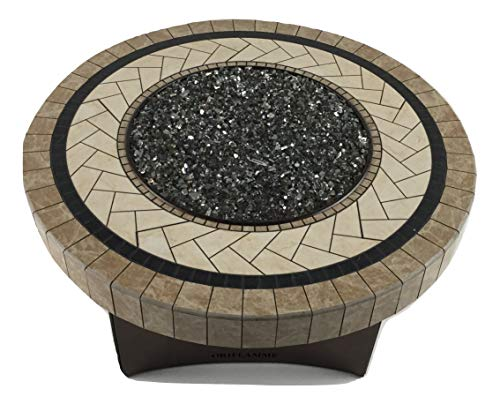 Best Prices! Oriflamme New Artesia Stone Gas Fire Pit Outdoor Propane Fire Table with Fire Glass, 48...