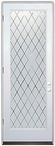 Glass Front Entry Door Sans Soucie Art Glass Diamond Grid