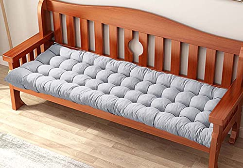 Yoole EU Cojín de banco de 8 cm de grosor para 2 3 plazas, cojines largos para banco de jardín, cojín rectangular para silla de banco, para chaise Swing interior y exterior (110 x 40 cm), color gris