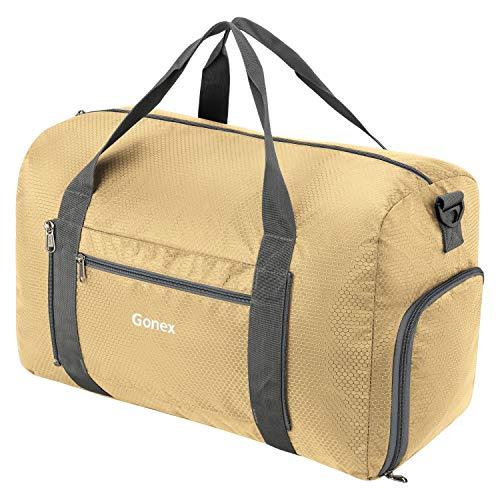 Gonex 38L Foldable Sport Duffles Packable Carry On Travel Holdall Bag Golden