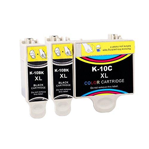 ESTON 3Pack HY 10XL Ink Replacement for Kodak10 XL 10B 10C Fit ESP 3 5 7 9 Hero 6.1 7.1 9.1