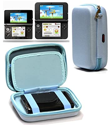 Navitech Blue Premium Travel Hard Carry Case Cover Sleeve Compatible With The Nintendo 3DS XL & 3DS