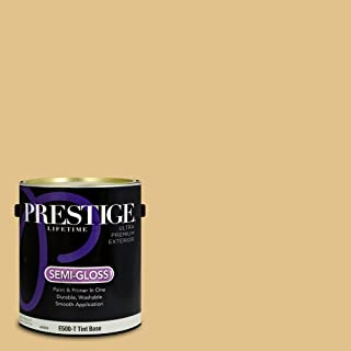 Prestige Paints E500-T-SW6394 Exterior Paint and Primer in One, 1-Gallon, Semi-Gloss, Comparable Match of Sherwin Williams Sequin, 1 Gallon,