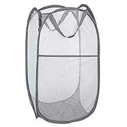 in budget affordable Bud mesh pull-out laundry basket, foldable storage, portable fold-out pull-out laundry basket …