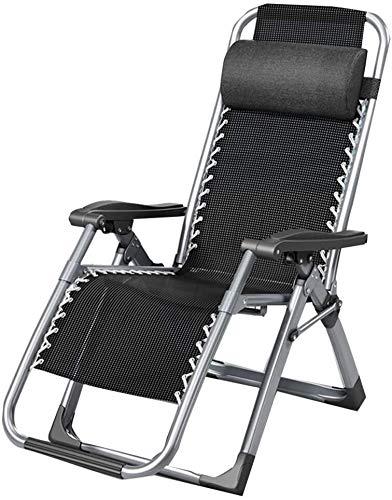 OESFL Al Aire Libre reclinable Silla de Oficina Cero Gravedad Presidente de la Siesta de la casa Balcón Silla Plegable Cama al Aire Libre Puede soportar 200 Kg