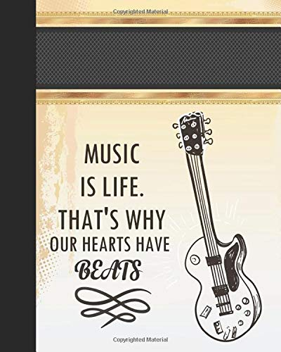 Music is life. That's why our hearts have beats: Music Teacher notebook/music teacher gift journal/ teacher appreciation gift journal Lined ... appreciation gift notebook Series, Band 8)