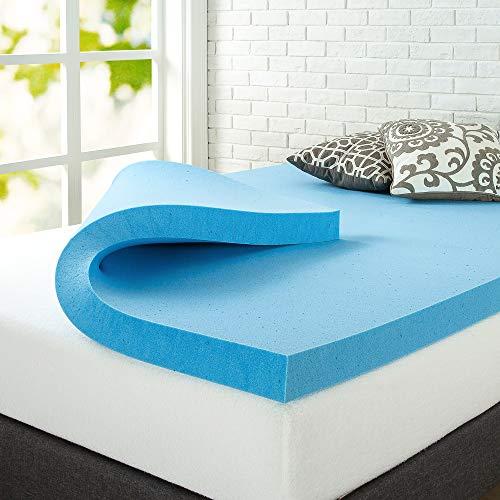 ZINUS 3 Inch Green Tea Cooling Gel Memory Foam Mattress Topper / Cooling Gel Foam / CertiPUR-US Certified, Twin
