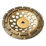 7' Diamond Cup Grinding Wheels for Concrete 24 Double Row Segments 5/8'-11 Arbor