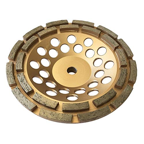 7' Diamond Cup Grinding Wheels for Concrete 24 Double Row Segments 5/8'-11 Arbor