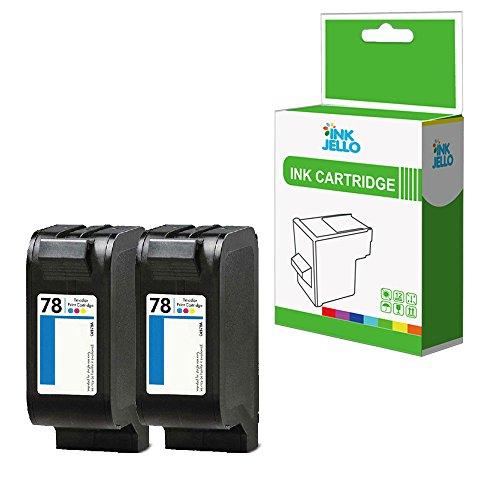 Inkjello wiederaufbereitete Tintenpatrone Ersatz für HP Deskjet 1180C 1220C 1220C PS 1220CXI 12806120612261279300930C 930cm 935C 950C 959C 960C 970CSE–C6578AE (Farbe, 2er Pack)