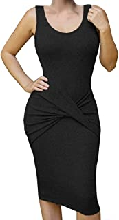 Womens Sleeveless Sexy Bodycon Midi Bandage Party Evening Dresses