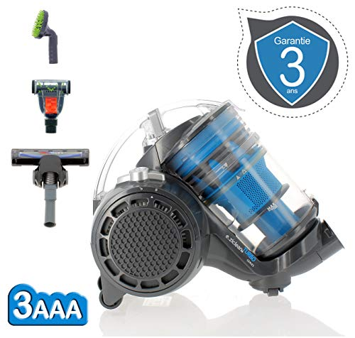 900 W EZIclean Multi Floors Turbo MULTIFLOORS-Aspirador sin Bolsa para Todos Tipos de Suelo Polycarbonate gris//azul 70 Decibelios