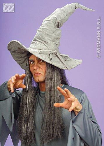 Deluxe Suede Look gris Wizard Hat