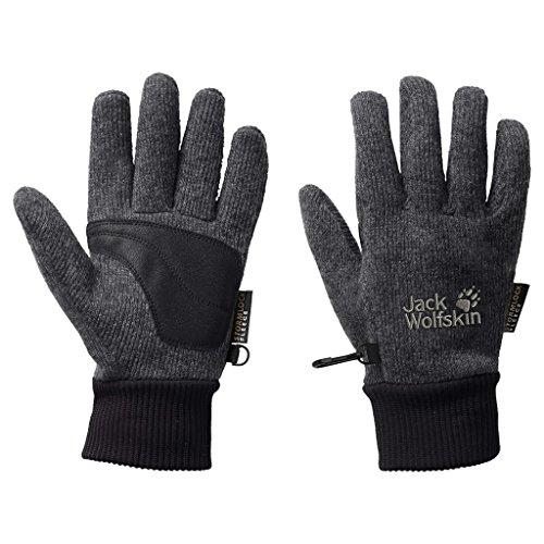 Jack Wolfskin Unisex Handschuhe Knitted Stormlock, phantom, L, 1900921-6350004