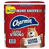 Charmin Ultra Strong Toilet Paper 24 Mega Plus Roll, Bath Tissue, 330 Sheets Per Roll